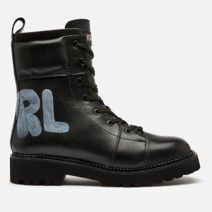 Karl Lagerfeld满$547享7折Kadet Ii 鞋带短靴