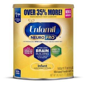 EnfamilNeuroPro Baby Formula, 28.3 oz Powder Value Can