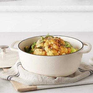 低至$53.54+免邮AmazonBasics 搪瓷铸铁锅 4种尺寸 4色可选 高颜值白菜价
