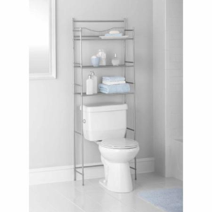 $19.84Mainstays 3-Shelf Bathroom Over the Toilet Space Saver with Liner
