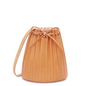 Mansur GavrielVegetable Tanned Pleated Bucket Bag
