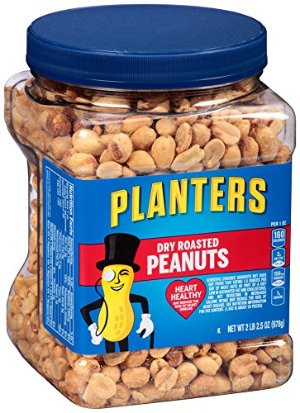 $15.04 Planters Dry Roasted Peanuts, 34.5 Ounce, 3 Count