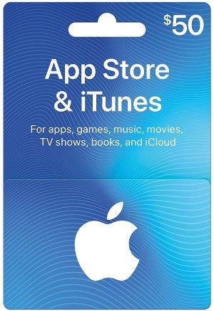 $40 (原价$50) 快抢闪购:App Store &iTunes $50礼卡