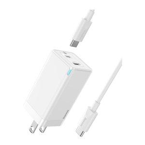 Baseus 45W 氮化镓 2C 快充充电器 附带C2C数据线