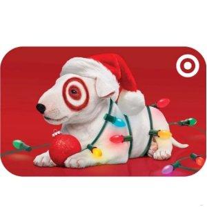 享受95折优惠 大通信用卡再返5%提前享:Target $10 - $500 面额电子礼卡特卖