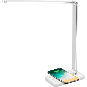 Afrog LED可调光节能台灯 带无线充电 黑白两色同价