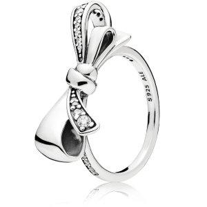 Pandora蝴蝶结戒指