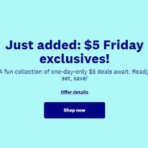 一律$5限今天:WW Shop 周五独家 限时特卖