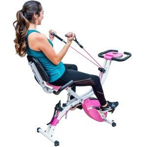 PLENY 三合一叠健身自行车 带阻力带 两色可选