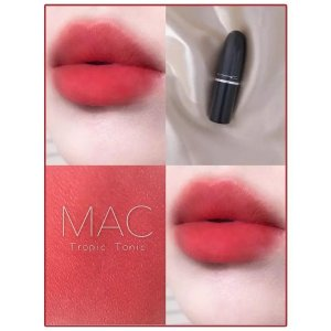 MAC粉嫩日常珊瑚色 少女感满分!哑光子弹头唇膏 tropic tonic