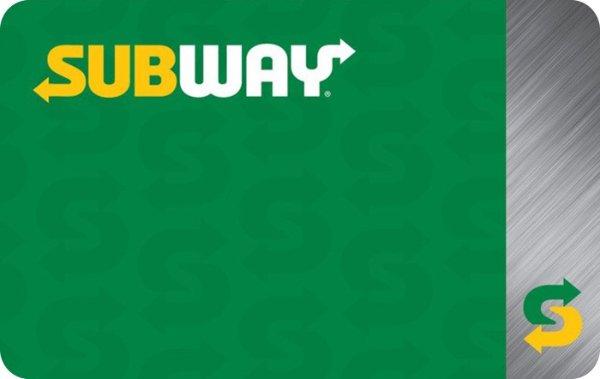 Subway电子礼卡