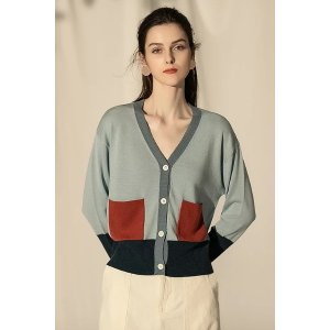 Ecru EmissaryBlue Finge Sweater