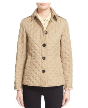 $446(原价$595)Burberry Ashurst 系列菱格纹棉袄7.5折(多色)