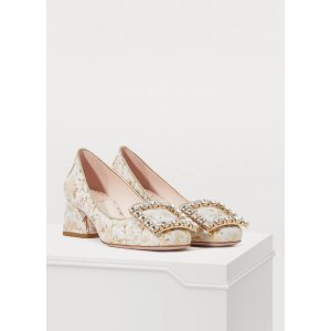 Roger VivierTres Vivier buckle rhinestone heels