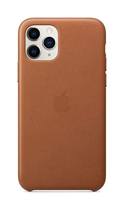 IPhone 11 pro 官方皮革保护壳 棕色