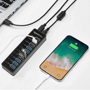 AmazonBasics USB扩展坞 65瓦 10接口 20V/3.25A 5.4折特价