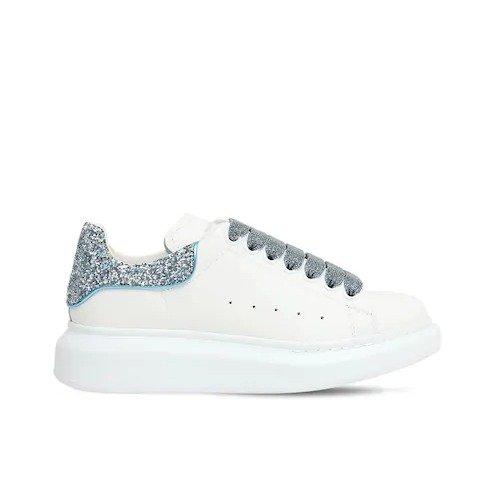 40MM蓝亮片小白鞋