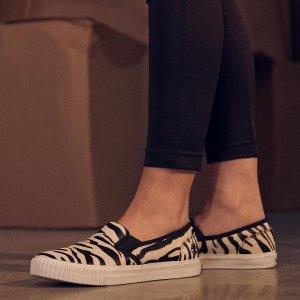 Timberland码全斑马纹船鞋