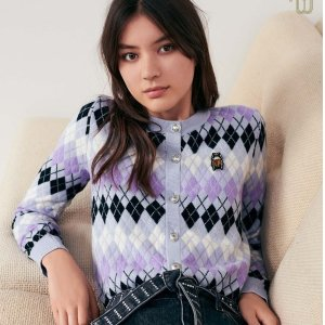低至4折 €112收封面爆款开衫Maje 官网大促开启 温暖又浪漫的针织、开衫全整理