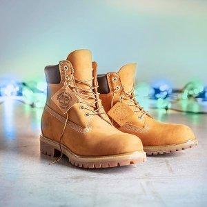 €80.9收淡粉色靴子Timberland 大黄靴 低至5折+折上9折
