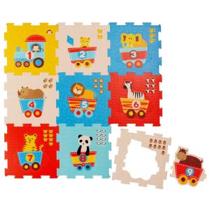 30×30cm 9块仅€17.39Bieco 拼图垫 宝宝爬垫 趣味小动物 无污染泡沫橡胶板