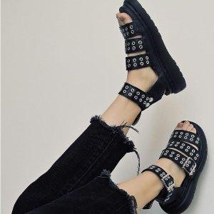 无门槛6折 + 免邮Dr. Martens 官网男女同款凉鞋大促 $60收码全孟美岐同款