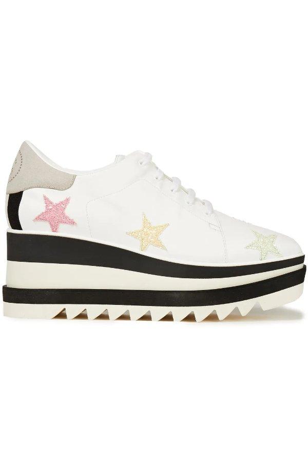 星星厚底鞋