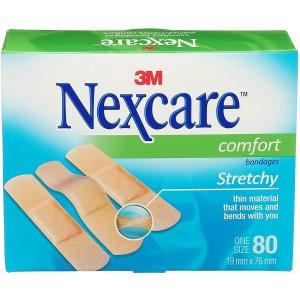 5.3折 $4.49(原价$7.99)白菜价:3M Nexcare Comfort 创可贴 舒适透气 80张