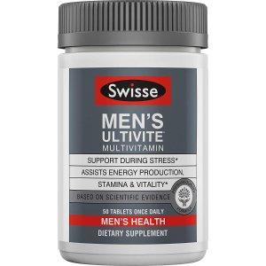 Swisse Premium Ultivite Daily Multivitamin for Men 50ct.