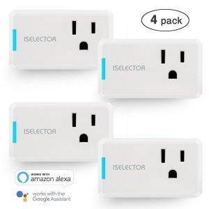 $21.99ISELECTOR Mini Smart Plug 4-Pack, Wi-Fi,