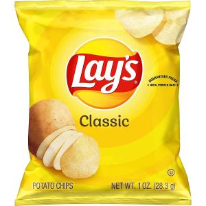 $12.15 一包$0.3补货:Lay's 原味薯片 1oz 40包