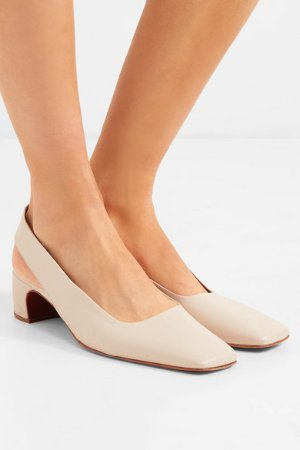 BY FAR | Danielle leather slingback pumps  | NET-A-PORTER.COM