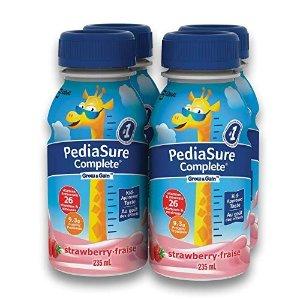 PediaSure需要通过Subscribe&Save结账草莓味营养饮品4 x 235 ml