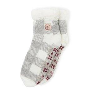 DearfoamsWomen's Fairisle or Plaid Knit Cozy Slipper Sock