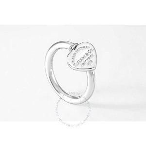 Tiffany & Co.纯银爱心戒指
