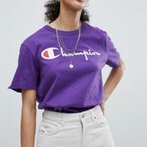 2件$30Champion 男款经典logo短袖T恤