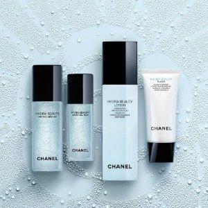 线上折扣+满额减£10 山茶花面霜£45收Chanel 精选护肤产品热促 收山茶花 气泡精华 精粹面霜
