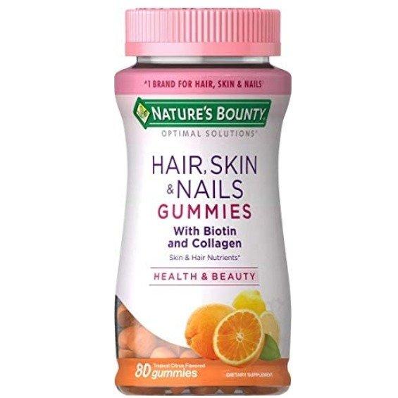 Nature's Bounty 头发、皮肤、指甲 胶原蛋白软糖80粒装