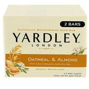 $1.8Yardley London 燕麦杏仁保湿皂2支装热卖