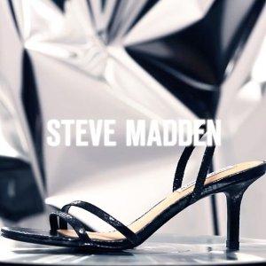 2.7折起,低至$19.99Steve Madden 鞋履清仓热卖 一字带凉鞋$40,老爹鞋$50