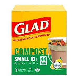 $7.38(原价$10.99)Glad 可降解柠檬味10升厨房用垃圾袋,环保又香香