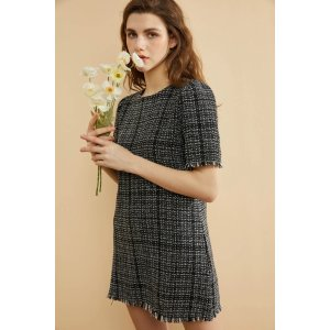 Whizz30% off $149Black and White Tweed Dress
