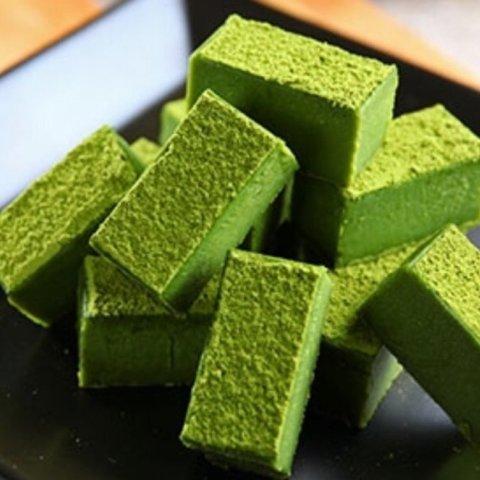 快用生巧来俘获TA的心吧高级甜品自己做 日式抹茶生巧克力
