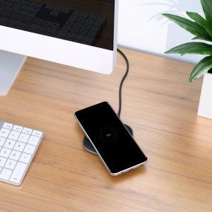 $8收 折扣升级 AirPods也能用AUKEY 无线充电板, 支持10W快充, iPhone 8及以上机型都适用