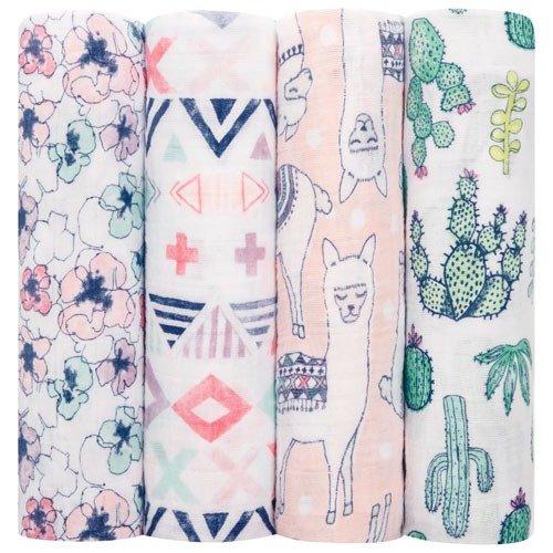 婴儿纱布包巾4条装