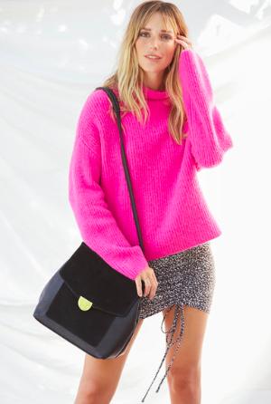 Neely桃粉色毛衣