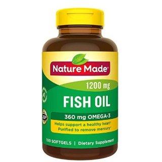 $4.84 包邮Nature Made 鱼油胶囊 1200 mg 100粒 新包装