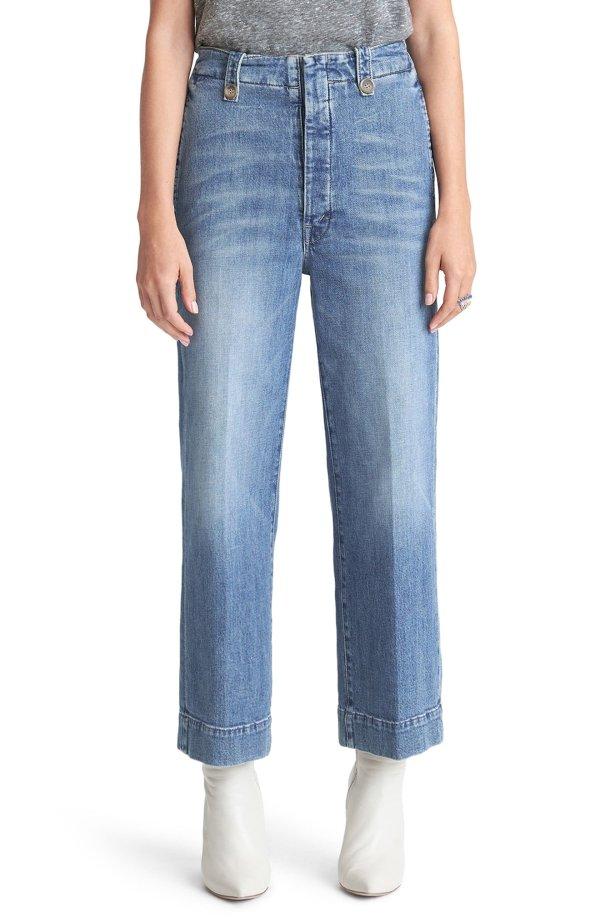 The Zipped 直筒牛仔裤