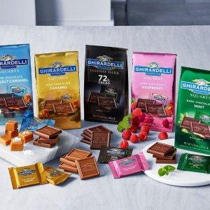 8折 什锦口味大包装$10.36限今天:Ghirardelli 热销夹心方块、条装巧克力等全场特卖