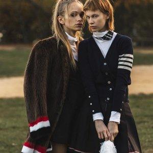 无门槛5折 收四道杠外套Thom Browne 帅气干练条纹服饰、潮包热卖